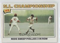 N.L. Championship: Reds Sweep Phillies 3 In Row (Pete Rose)