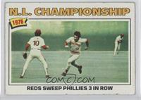 N.L. Championship: Reds Sweep Phillies 3 In Row [GoodtoVG‑EX]