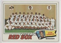 Boston Red Sox Team Checklist (Don Zimmer) [GoodtoVG‑EX]