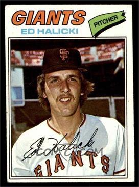 1977 Topps - [Base] #343 - Ed Halicki [VG]