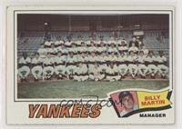 New York Yankees Team, Billy Martin [Poor to Fair]