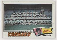 New York Yankees Team, Billy Martin [GoodtoVG‑EX]