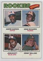 Rookie Outfielders (Andre Dawson, Gene Richards, John Scott, Denny Walling) [Go…
