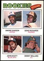 Rookie Outfielders (Andre Dawson, Gene Richards, John Scott, Denny Walling) [NM…