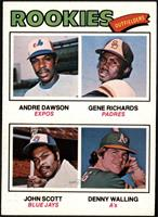 Rookie Outfielders (Andre Dawson, Gene Richards, John Scott, Denny Walling) [EX…