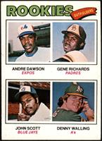 Rookie Outfielders (Andre Dawson, Gene Richards, John Scott, Denny Walling) [VG…