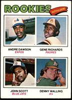 Rookie Outfielders (Andre Dawson, Gene Richards, John Scott, Denny Walling) [VG]