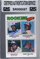 Rookie Outfielders (Andre Dawson, Gene Richards, John Scott, Denny Walling) [CA…