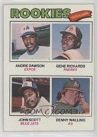 Rookie Outfielders (Andre Dawson, Gene Richards, John Scott, Denny Walling)