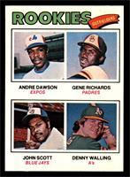 Rookie Outfielders (Andre Dawson, Gene Richards, John Scott, Denny Walling) [NM]