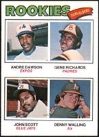 Rookie Outfielders (Andre Dawson, Gene Richards, John Scott, Denny Walling) [EX…