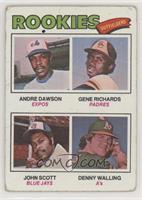 Rookie Outfielders (Andre Dawson, Gene Richards, John Scott, Denny Walling) [Po…