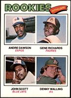 Rookie Outfielders (Andre Dawson, Gene Richards, John Scott, Denny Walling) [NM]