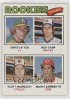 Scott McGregor, Chris Batton, Rick Camp, Manny Sarmiento