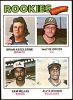 Rookie Outfielders (Brian Asselstine, Wayne Gross, Sam Mejias, Al Woods) [EX&nb…