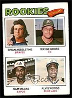 Rookie Outfielders (Brian Asselstine, Wayne Gross, Sam Mejias, Al Woods) [VG&nb…