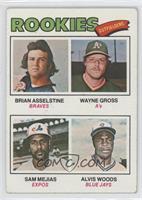 Rookie Outfielders (Brian Asselstine, Wayne Gross, Sam Mejias, Al Woods) [Good&…
