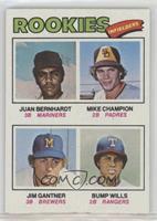 Mike Champion, Jim Gantner, Bump Wills, Juan Bernhardt