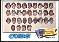Chicago Cubs Team, Herman Franks [EX]