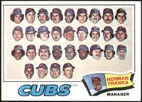 Chicago Cubs Team, Herman Franks [EX MT]