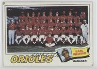 Baltimore Orioles Team, Earl Weaver [Poor to Fair]