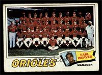 Baltimore Orioles Team, Earl Weaver [POOR]