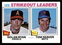 1976 Strikeout Leaders (Nolan Ryan, Tom Seaver) [EX]