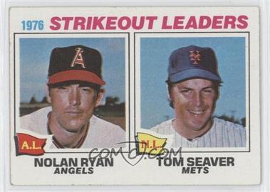 1977 Topps - [Base] #6 - 1976 Strikeout Leaders (Nolan Ryan, Tom Seaver)