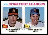 1976 Strikeout Leaders - Nolan Ryan, Tom Seaver [NM]