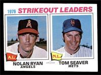 1976 Strikeout Leaders - Nolan Ryan, Tom Seaver [VG]