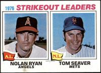 1976 Strikeout Leaders - Nolan Ryan, Tom Seaver [EX]