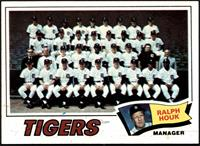 Detroit Tigers Team Checklist (Ralph Houk) [NM]