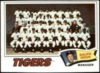 Detroit Tigers Team Checklist (Ralph Houk) [EX]