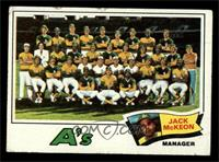 Oakland Athletics Team Checklist (Jack McKeon) [POOR]