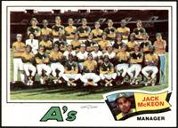 Oakland Athletics Team Checklist (Jack McKeon) [NM]
