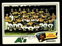 Oakland Athletics Team Checklist (Jack McKeon) [FAIR]