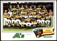 Oakland Athletics Team Checklist (Jack McKeon) [FAIR]