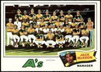 Oakland Athletics Team Checklist (Jack McKeon) [EX MT]