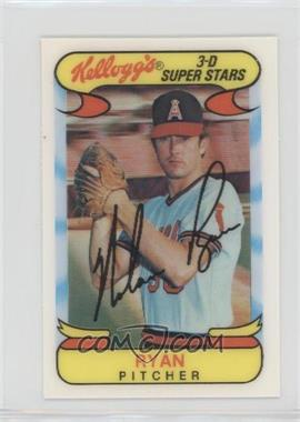 1978 Kellogg's 3-D Super Stars - [Base] #51 - Nolan Ryan