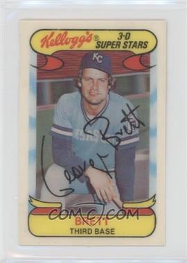 1978 Kellogg's 3-D Super Stars - [Base] #6 - George Brett