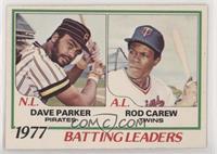 Dave Parker, Rod Carew