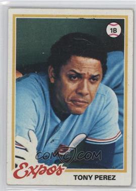 1978 Topps - [Base] #15 - Tony Perez [GoodtoVG‑EX]
