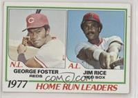 George Foster, Jim Rice [EX to NM]