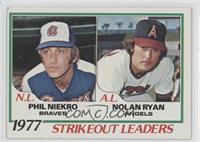Strikeout Leaders (Phil Niekro, Nolan Ryan)