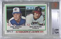 Strikeout Leaders (Phil Niekro, Nolan Ryan) [BVG8.5NM‑MT+]