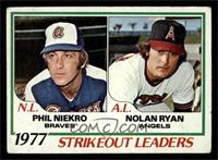 Strikeout Leaders (Phil Niekro, Nolan Ryan) [GOOD]