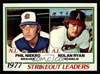 Strikeout Leaders (Phil Niekro, Nolan Ryan) [NM]