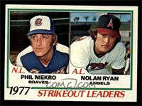 Strikeout Leaders (Phil Niekro, Nolan Ryan) [NM]