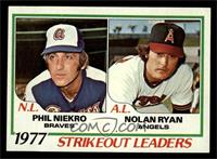 Strikeout Leaders (Phil Niekro, Nolan Ryan) [EX MT]