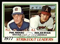 Strikeout Leaders (Phil Niekro, Nolan Ryan) [VG]
